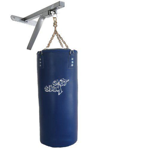 GAT POWER BWP1bl Kinder und Lady Boxset blau mit Wandmontage Paket: gefüllter 60 cm Boxsack und Boxsackhalterung