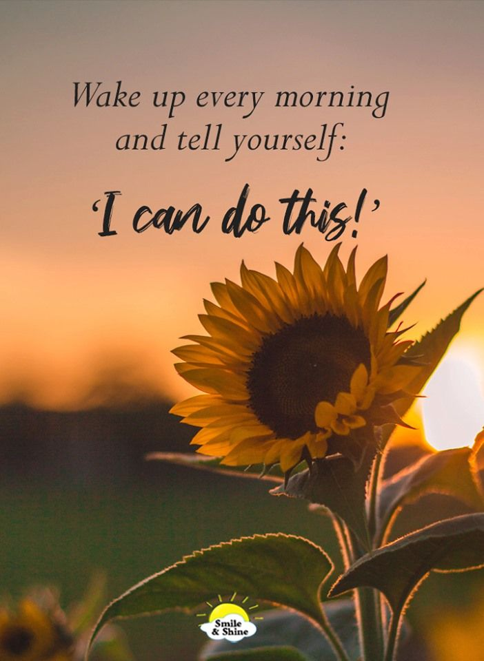 Wake Up Every Morning Tell Yourself I Can Do This Told You So Wake Up Early Quotes Happy Morning Quotes