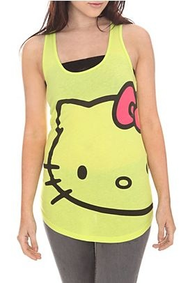 Hello Kitty Lime Face Tank Top