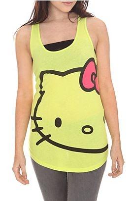 Hello Kitty Lime Face Tank Top