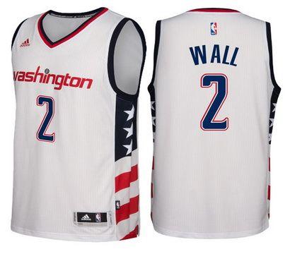 34956d784 ... Washington Wizards 2 John Wall Revolution 30 Swingman New White Jersey  Adidas NBA ...