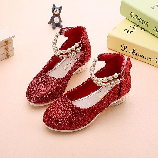 Mädchen shoes frühling herbst prinzessin schwarz rot partei formale perlen rosa faux leder Schuhe für mädchen 10 jahre alt big größe //Price: $US $15.18 & FREE Shipping //     #dazzup