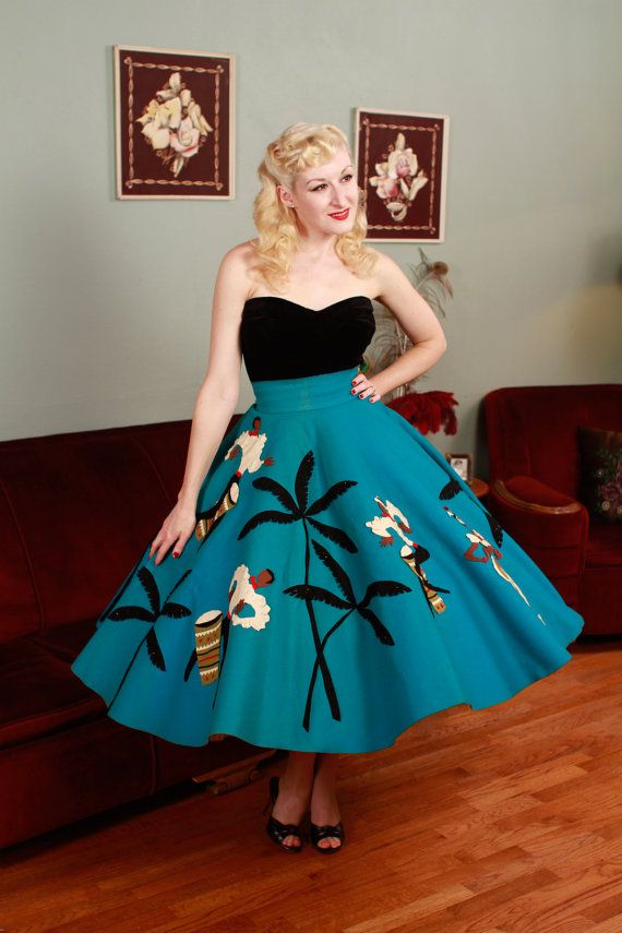 RESERVED Vintage 1950s Skirt Authentic Juli Lynne By FabGabs