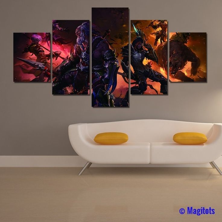Diablo Game Poster - 5 piece canvas
