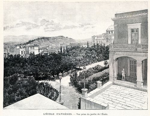 Asklipiou Street 1898 | Engraving of the view from the front… | Flickr