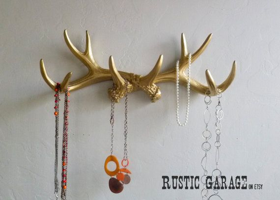 GOLD ANTLERS Metallic Gold Deer Antler Rack by RusticGarage, $46.00
