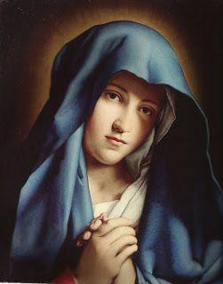 Virgen dolorosa Sasoferrato. Carmelitas Descalza de Valladolid