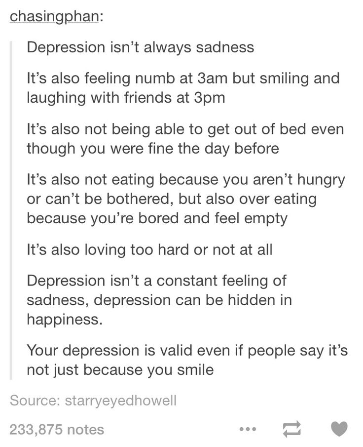 Depression isn't always sadness