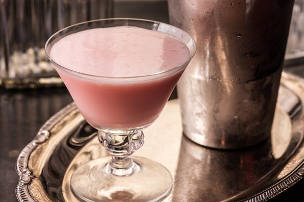 Pink Lady -  The gin-based Pink Lady cocktail, with the pink coming from grenadine, was created during Prohibition, but other versions were spawned in the 1930s; The Savoy Cocktail Book lists five. This recipe has gin, egg white, cream, and grenadine shaken into a creamy pink-hued drink.