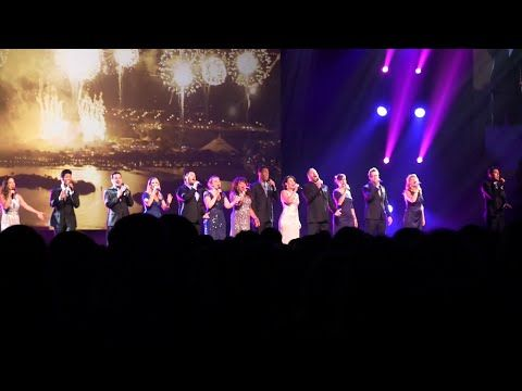 Disney Cast Members sing medley of nighttime show music at D23 Expo 2015 - YouTube