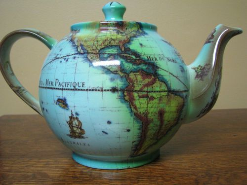 Cardew Terrestrial World Globe Tea Pot Made in England!