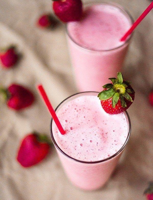 aardbeien eiwitshake recept