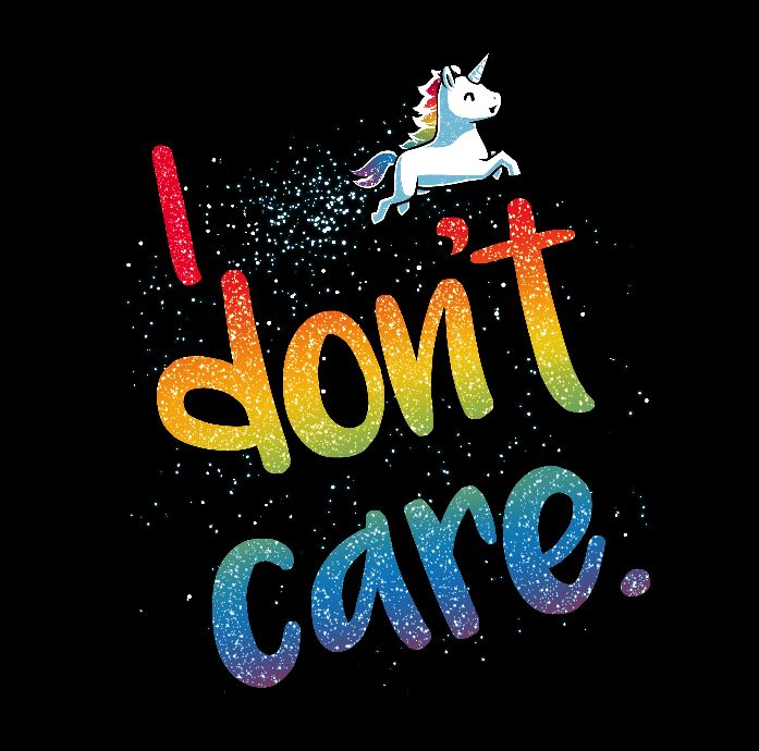 Throw glitter at the haters! Get the I Don't Care t-shirt only at TeeTurtle!