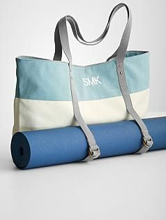 yoga mat bag... could repurpose a bag i already have with some new straps