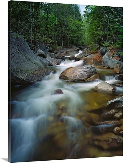 waterfalls maine | Waterfalls and rocks on Abol Stream, Baxter State Park, Maine Photo ...
