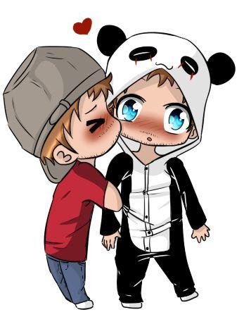 Fanart SLG - PanGeek kiss on the cheek by DioLorette on DeviantArt