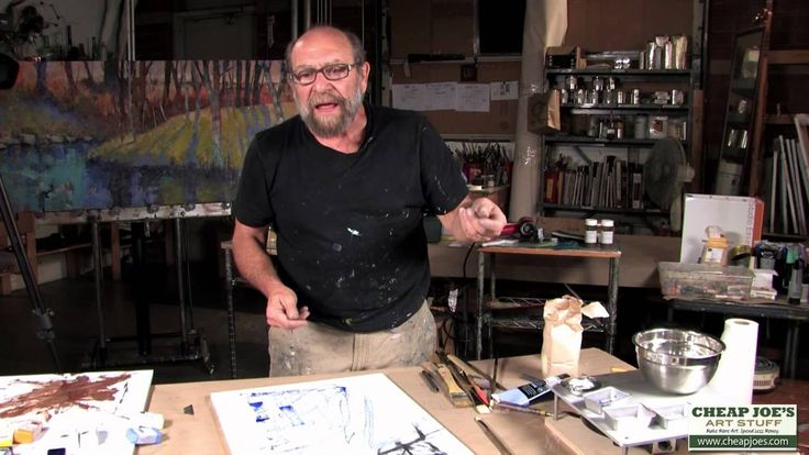 Andy Braitman Encaustics Painting Part 1