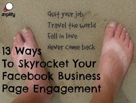 The point of a business page is to build up a loyal following of people who are interested in your niche and brand, then actually engage with them to build rapport and trust.