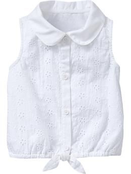 Sleeveless Tie-Waist Tops for Baby