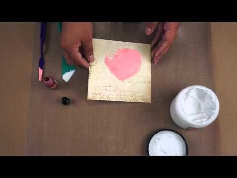 Prima Quick Tip: Creating custom Art Basics Modeling Paste with Alcohol Inks. #quicktip #videos #art #mixedmedia #tips