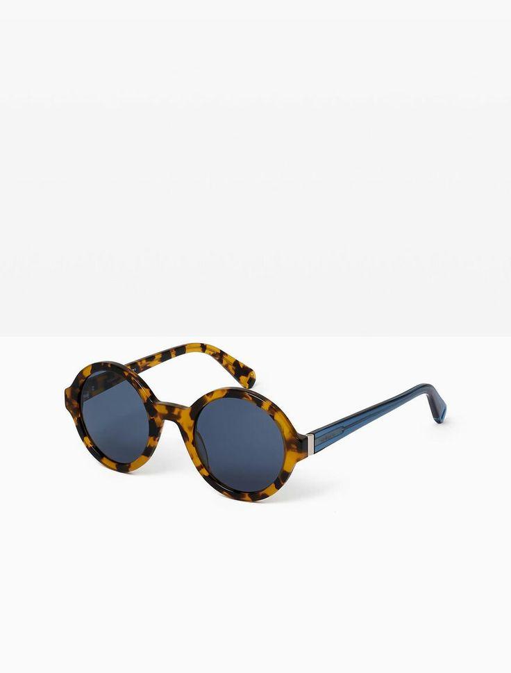 Lunettes de soleil vintage des années 60 dans un style branché avec la mode des temples métalliques couleur bronze lunettes tendances 2014 (imprimé léopard) fSnN5CGXCI