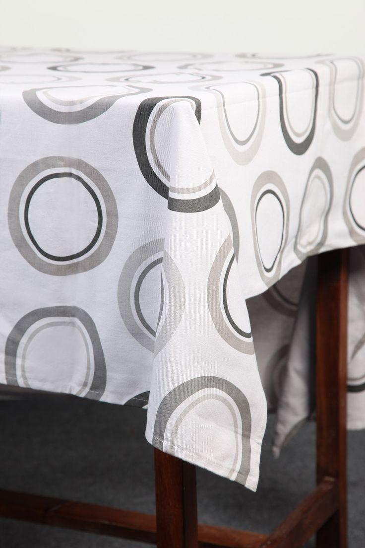 Geometric Circles tablecloth by Suraaj Linens