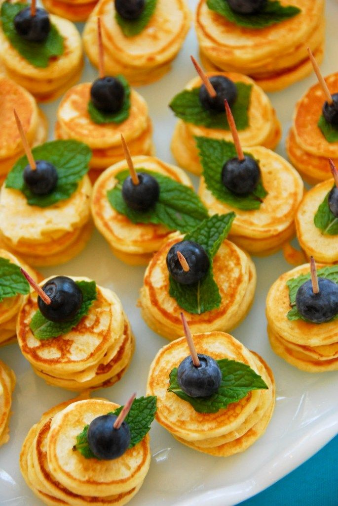 Mini Pancake Stacks - would be perfect for a morning event or brunch event