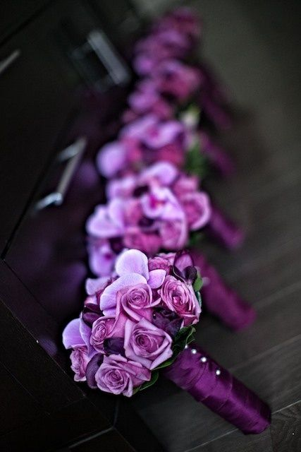 Radiant Orchid Bouquets.