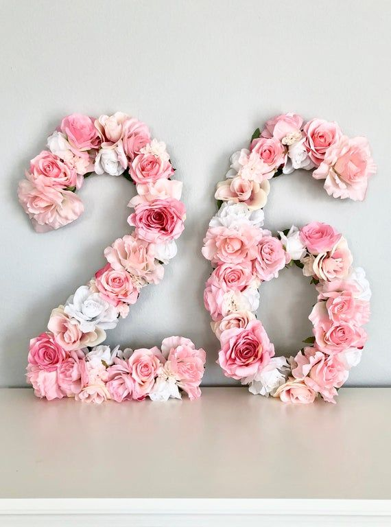Floral Number Birthday Number Decor Birthday Banner Flower Etsy In 2021 Sweet 16 Party Decorations Birthday Numbers Sweet 16 Birthday Party