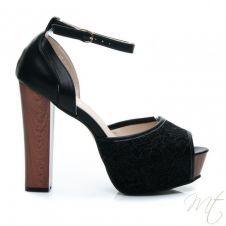 Dámske čierne sandále