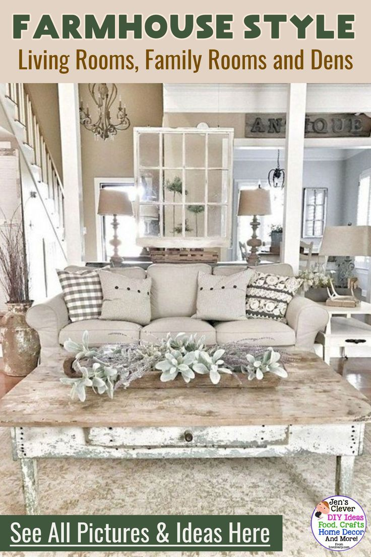 Farmhouse Living Rooms Modern Farmhouse Living Room Decor Ideas Family Rooms Dens In 2020 Farmhouse Decor Living Room Farm House Living Room Rustic Farmhouse Living Room