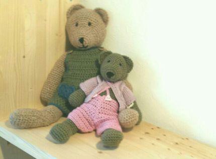 ☆ Elma&Emma Bär ☆ Teddy gehäkelt unikat handgemacht