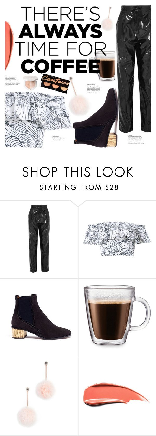 """""""Coffee Time"""" by elenaafiya ❤ liked on Polyvore featuring TIBI, Isolda, Chloé, Frontgate, Kate Spade, polyvoreeditorial and CoffeeDate"""