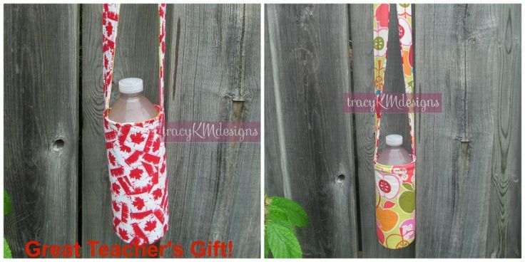 Reversible water bottle holder makes a great teacher gift! $15, multi item discount available!