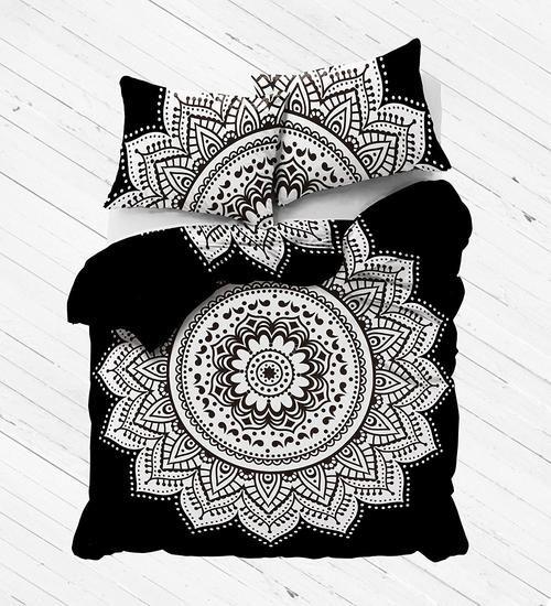 labhanshi black white mandala duvet cover 100 cotton handmade indian mandala reversible duvet cover king duvetqueen duvetking size