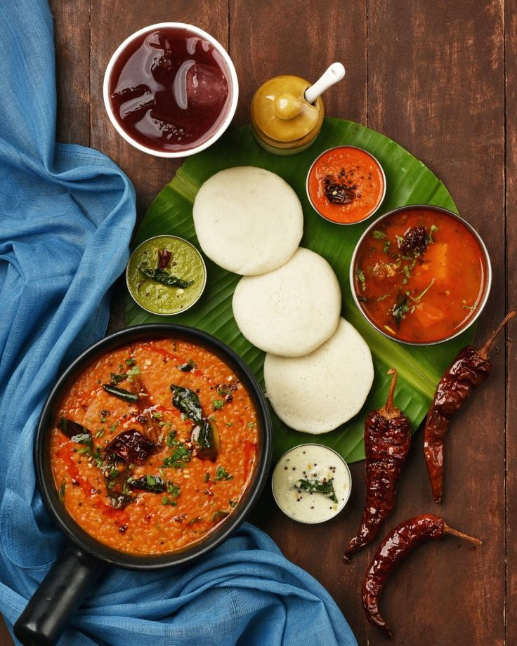 Bisi bele bath with idli south indian food indian food
