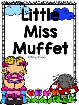 Lots of activities to go with the Nursery Rhyme Little Miss Muffet. Great for those first days of school before you get into your Reading Program.  Activities for First Sounds, Segmenting, Blending, Sequencing, Comprehension, and Fluency are included.