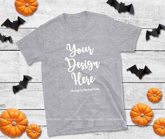 Free Halloween Grey T Shirt Mockup Gildan 64000 Shirt Flat Lay Psd We Have An Unbelievable Collection Of Bot Design Mockup Free Tshirt Mockup Free Psd Design