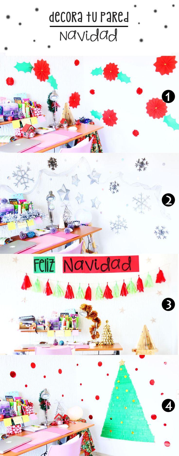 Decoraciones navideñas para la pared!