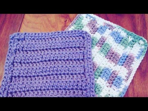 Crochet a cute dishcloth! Quick and easy tutorial - YouTube