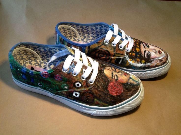 Zapatillas pintadas a mano  Inspiradas en mujeres turcas y Klimt