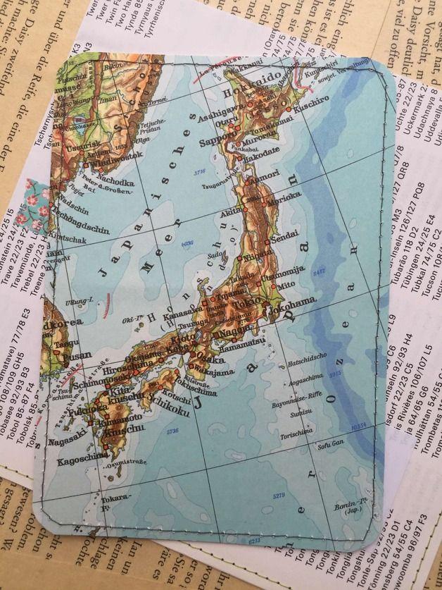 Urlaub - Upcycling Postkarte - JAPAN - ein Designerstück von das-war-mal---- bei DaWanda