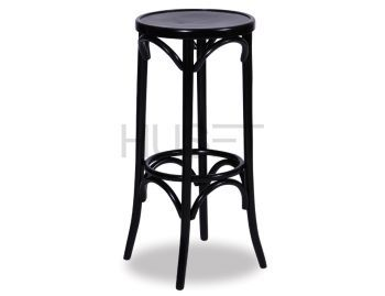 Black 80cm Paris Bentwood Bar Stool by Micheal Thonet image