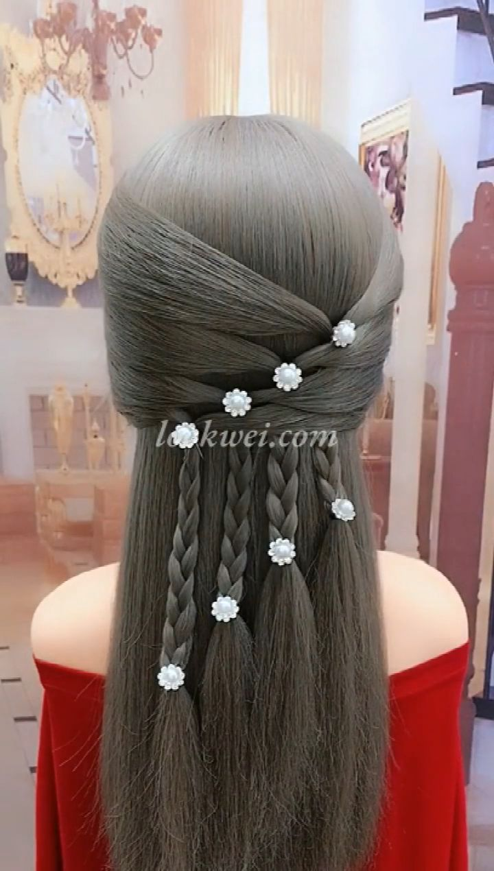50+ braid hairstyle idea and High crown ponytail