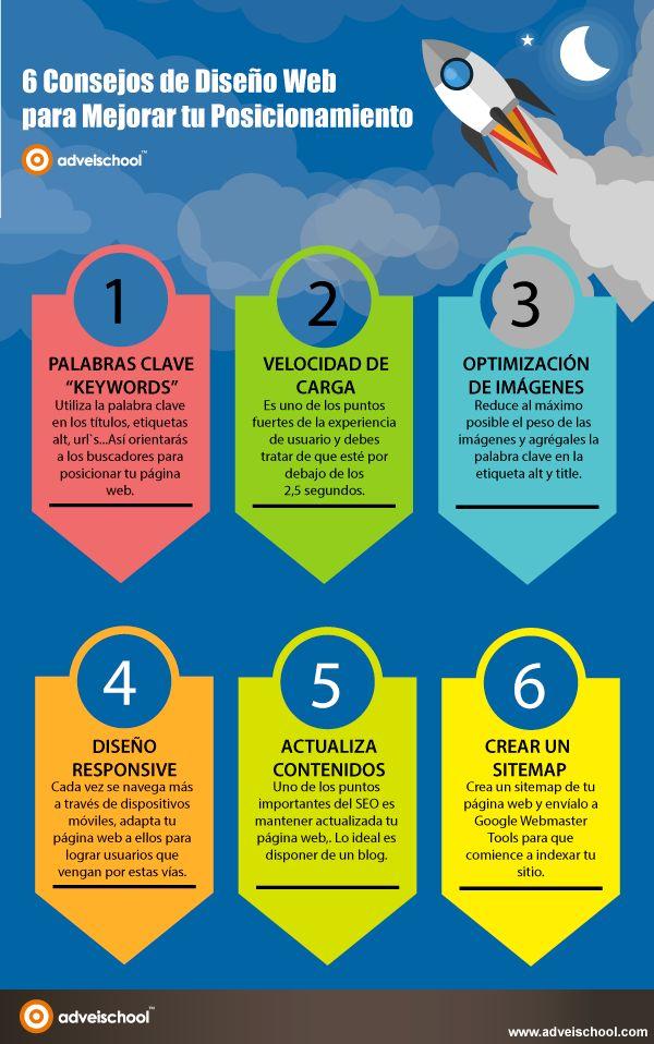 6 consejos de diseño web para mejorar el posicionamiento #infografía