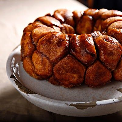 Monkey Bread!     For the Bubble Bread  1 1/4 cups whole milk  2 teaspoons instant yeast  4 cups all-purpose flour  5 Tablespoons sugar  1 teaspoon salt  1 egg  5 Tablespoons unsalted butter, melted    For the cinnamon-sugar coating  1 1/4 cups firmly packed dark brown sugar  2 teaspoons cinnamon  1/2 cup (1 stick) unsalted butter, melted and cooled