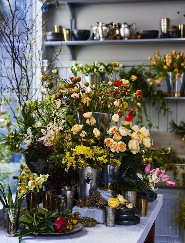 "A must-visit spot in New York City: Roman and Williams Soho Flagship. Included in the space is La Mercerie, an all-day Parisian café and bakery (open until 11 p.m.), and a flower shop from ""local muse of botany"" Emily Thompson. The result? A gorgeously louche, authentic space we never want to leave."