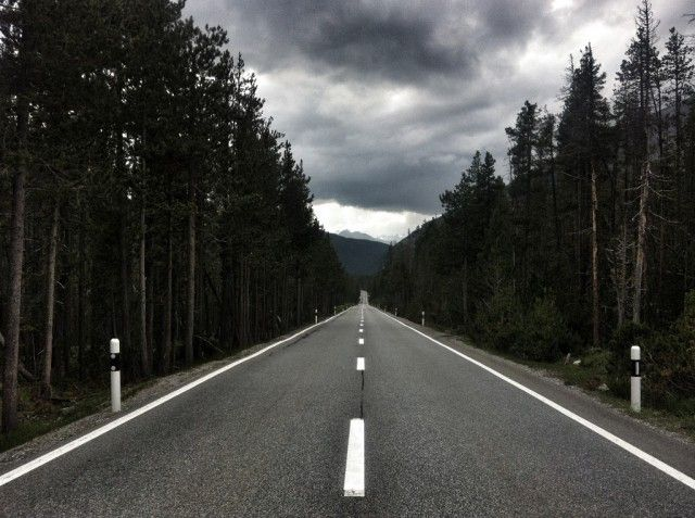 Denis on the road. Bolzano London, by Bike.