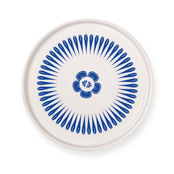 Blue & White Decorative Serving Plate by Mr & Mrs Clynk. This attractive blue and white serving plate is the height of Scandi sophistication, stylishly designed by Mr & Mrs Clynk. Its a lovely, tactile piece with a luxurious feel. A beautiful gift for all occasions including weddings. Comes in a lovely gift box. Its a little larger than a side plate, and once you hold this lovely piece you'll fall in love with it. £12.90