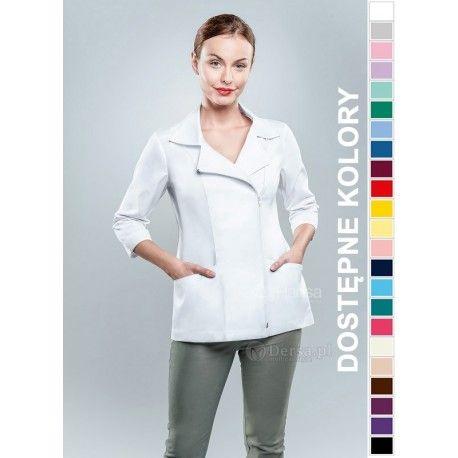Odzież medyczna dla kobiet. | Bluza damska kolorowa 1506 - z pewnością będzie to strzał w 10-tkę dla pielęgniarek i lekarzy. | Sklep internetowy Dersa |
